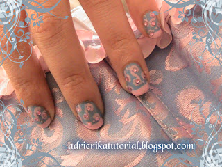 nail,art,azul,y,rosa