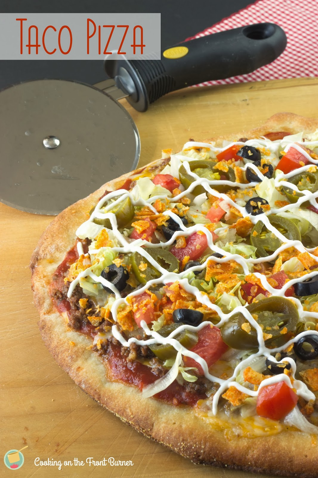 Taco Pizza | Cooking on the Front Burner #recipes #pizza
