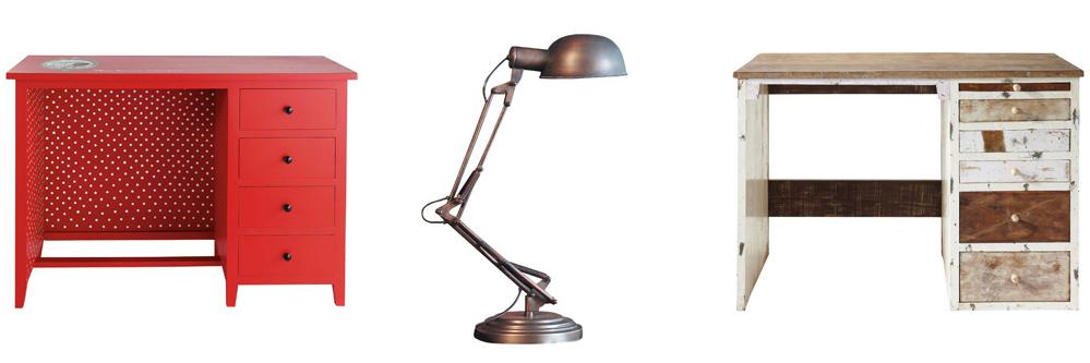 Mandy bla bla inspiration d co 4 un petit bureau for Lampe de bureau maison du monde