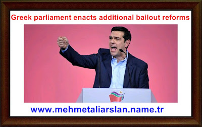 Greek parliament enacts additional bailout reforms