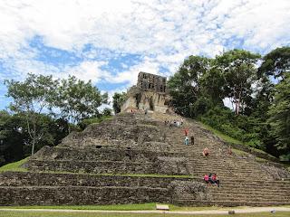 Templo de la Cruz at Palenque in Mexico