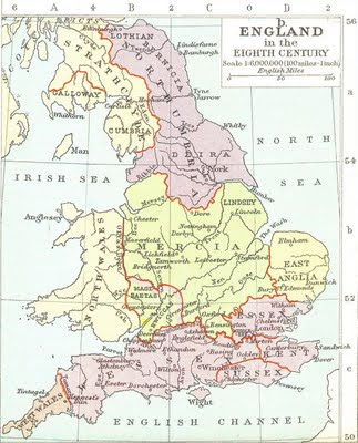 A Map of Old England