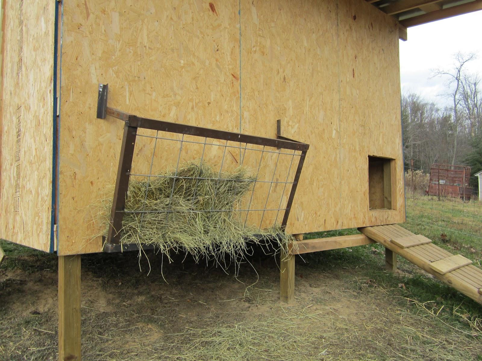 Homemade hay feeders http billandsandy blogspot com 2012 02 hay rack