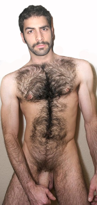 Hairy naked lads