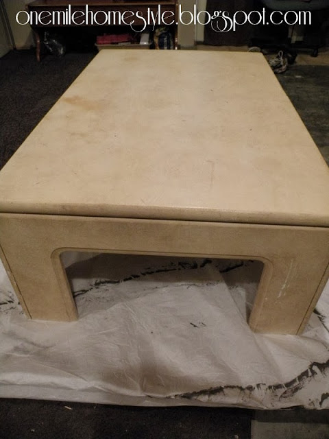 White Coffee Table - Before