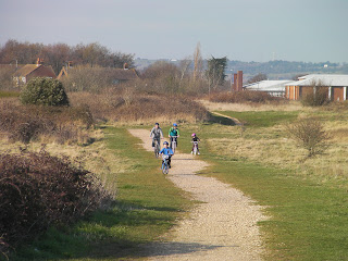off road cycling on nature reserve