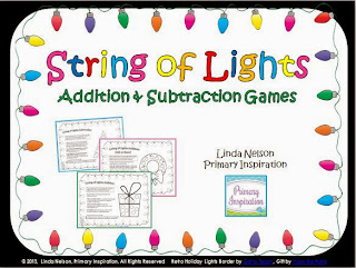 http://www.teacherspayteachers.com/Product/String-of-Lights-Math-Games-for-Addition-and-Subtraction-1004618