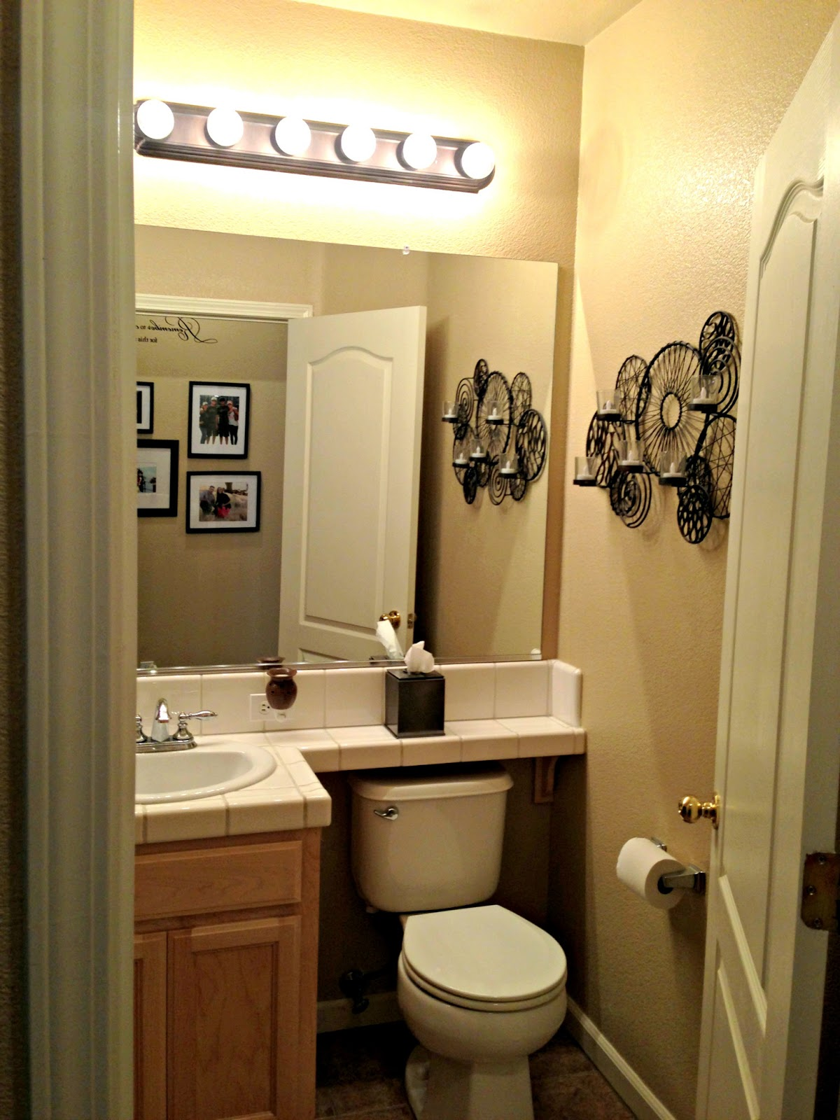 All things katie marie bathroom makeover for Small 1 2 bathroom decorating ideas