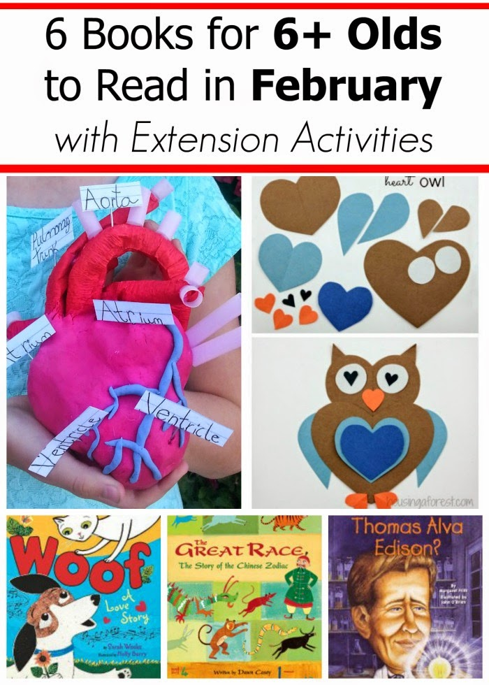 February Book Picks for Kids Age 6+ with Extension Projects