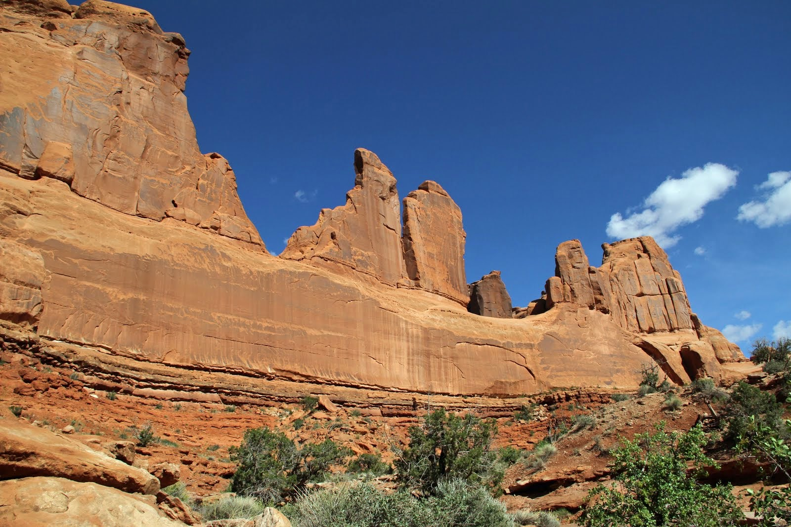 Park Avenue in Arches National Park are what's left of a vast mesa of the Entrata Sandstone erg