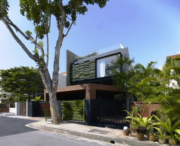 New home designs latest mauritius homes designs for Modern exterior wall design