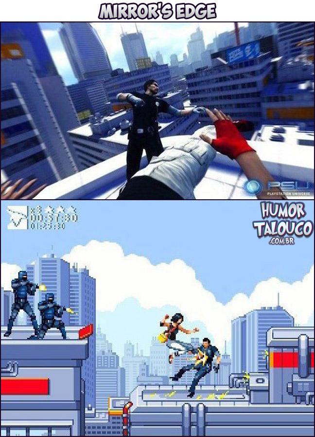 Games Atuais com Gráficos de Super Nintendo - Mirrror's Edge