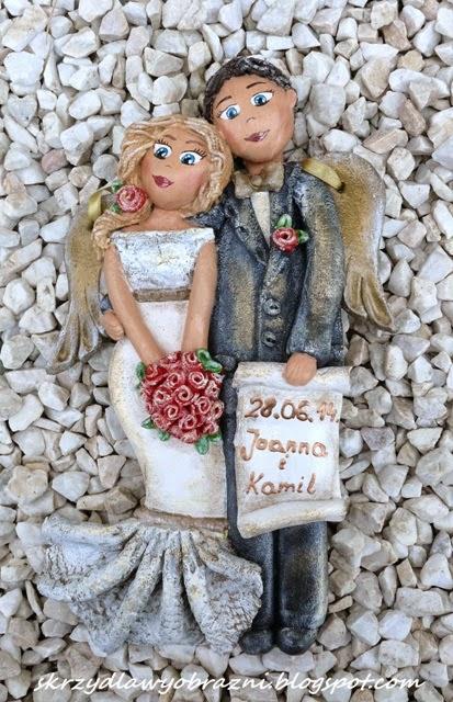 Para ślubna z masy solnej