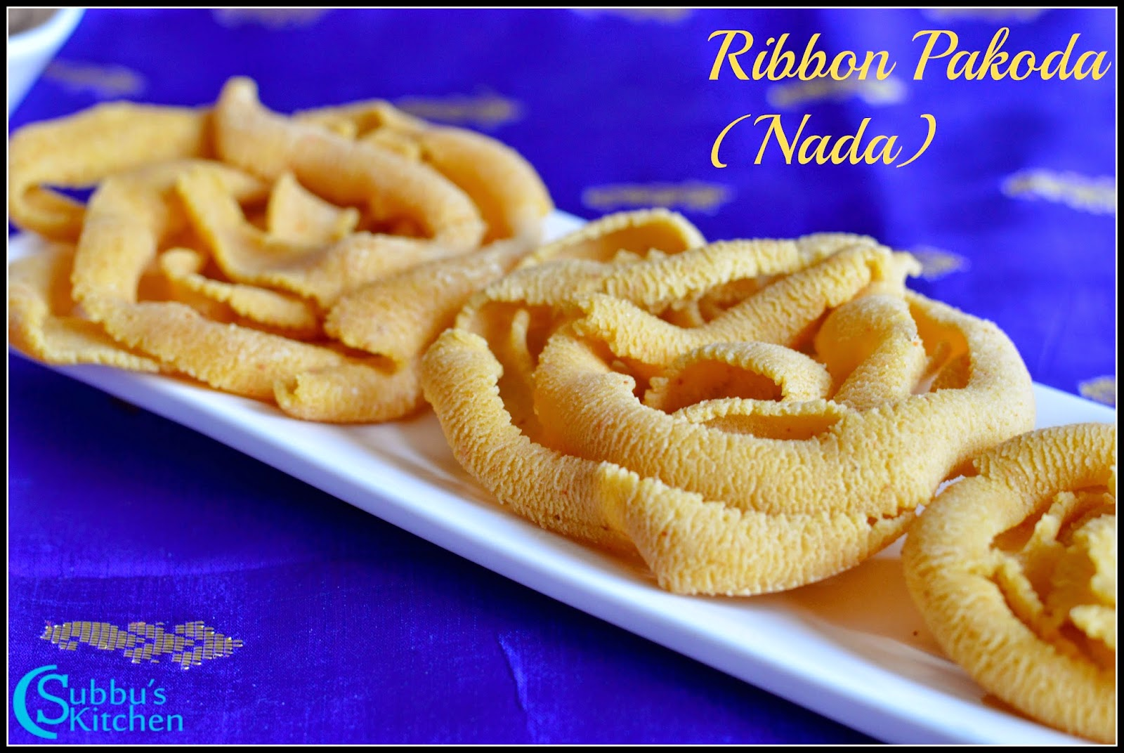 Ribbon Pakoda(Nada Recipe)