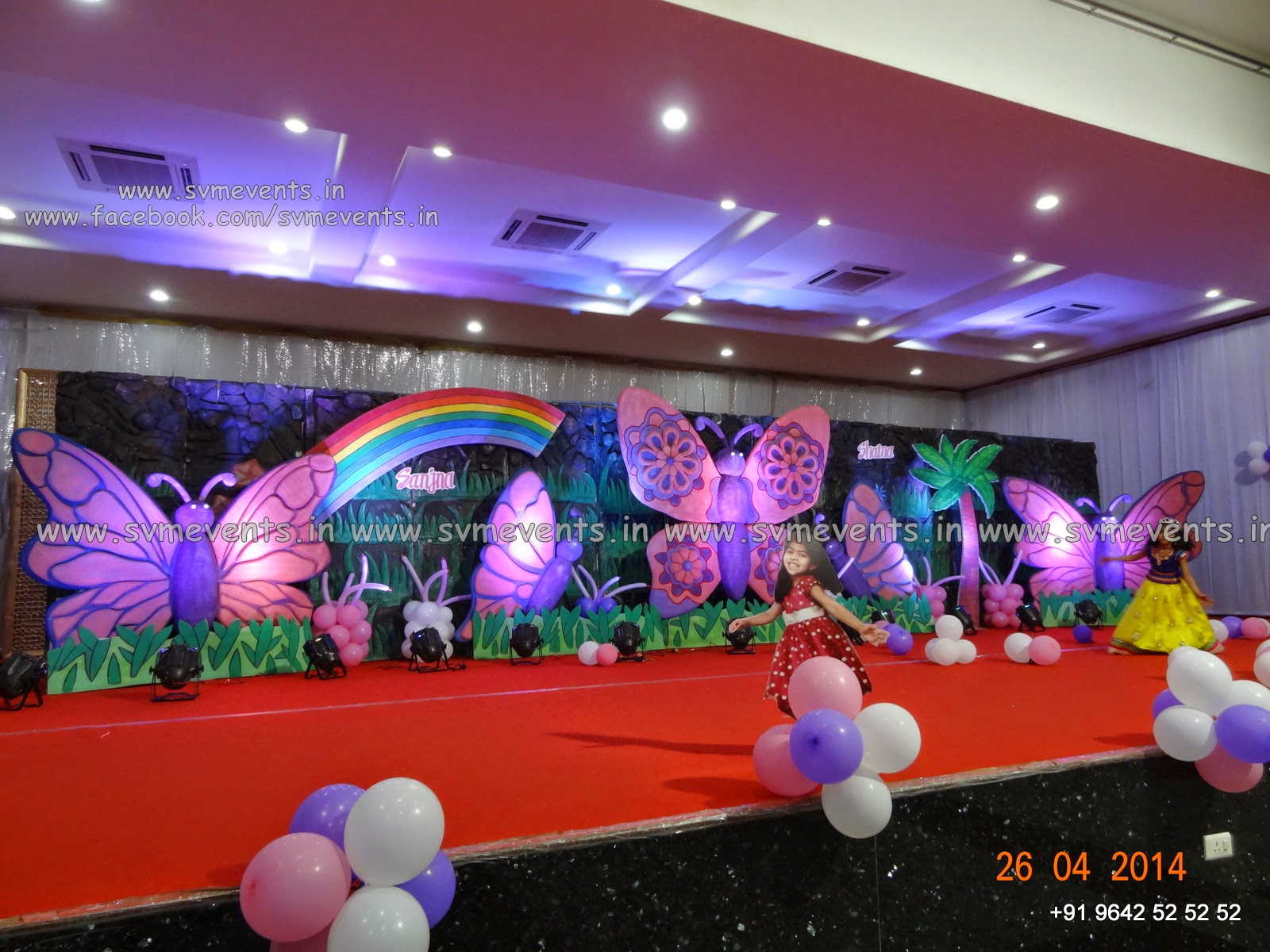 Svm Events Butterfly theme in Pink Color Baby Boy 1st Birthday