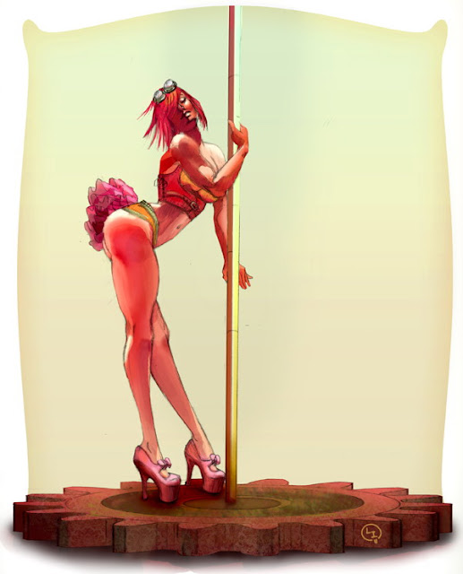 pole dance pin up