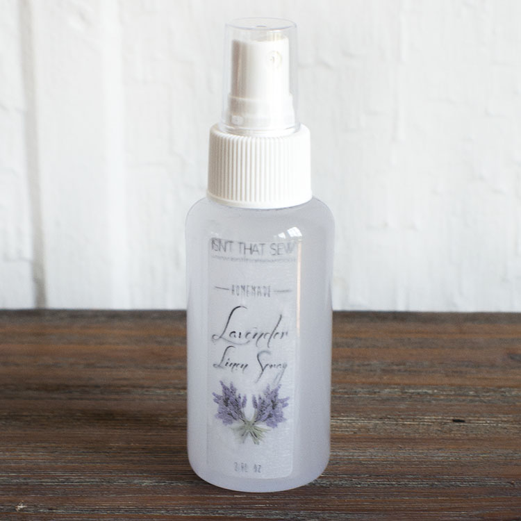 Homemade Lavender Linen Spray from Isn't that Sew