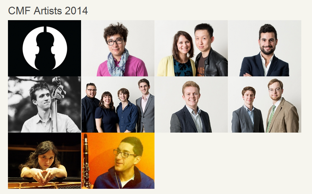 City Music Foundation artists 2014