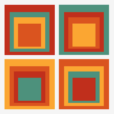4 sets of squares with 4 colors in each