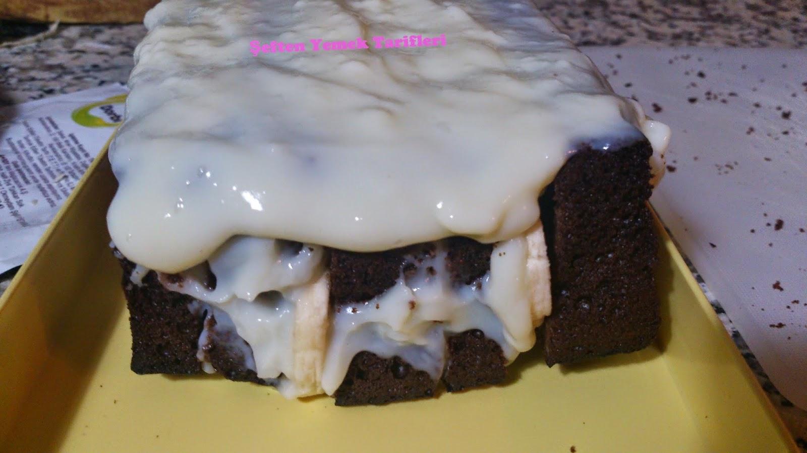 muzlu çikolatalı kontes pastatarifi