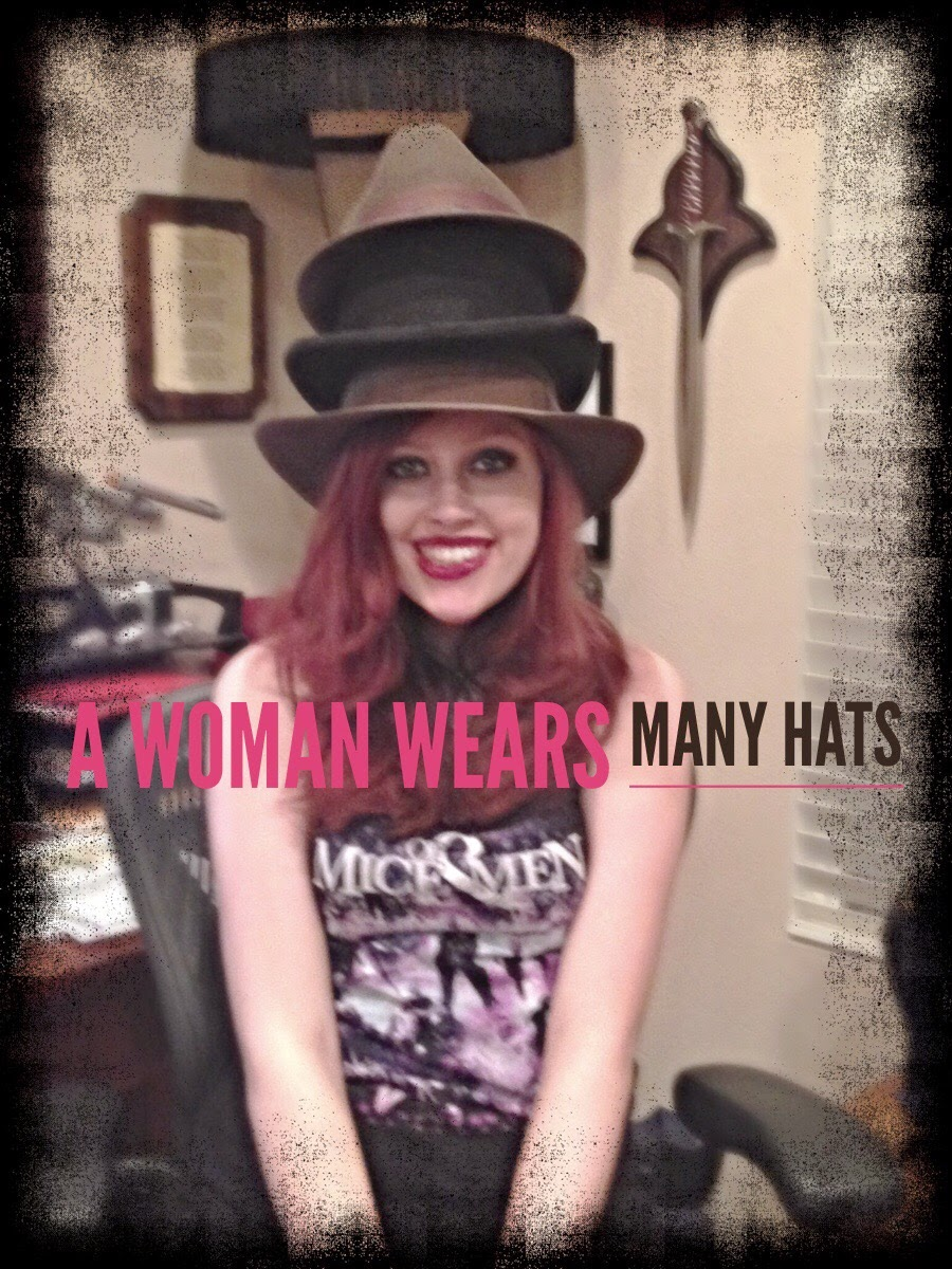 #WordlessWednesday Woman With Many Hats on The 3 Rs Blog