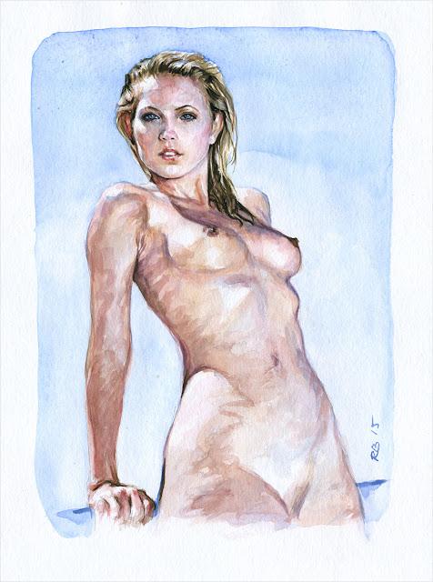 René Bui - Etude de nu à l'aquarelle 150144 - 2015