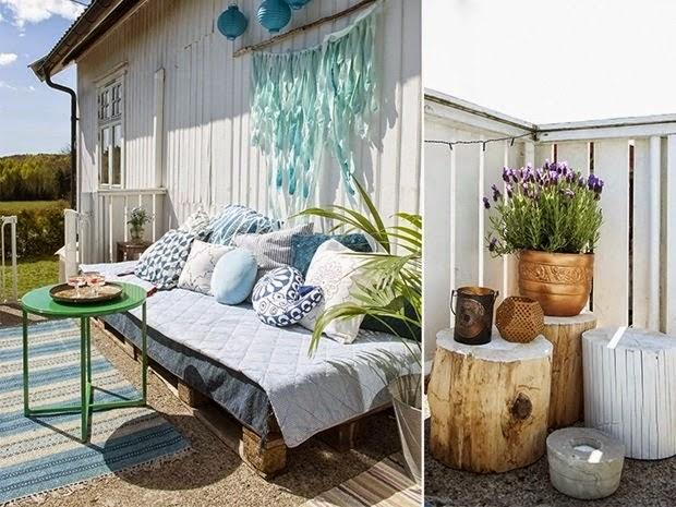 Decoraci n f cil inspiraci n en un jard n para una tarde de verano reciclando - Decorar terrazas reciclando ...