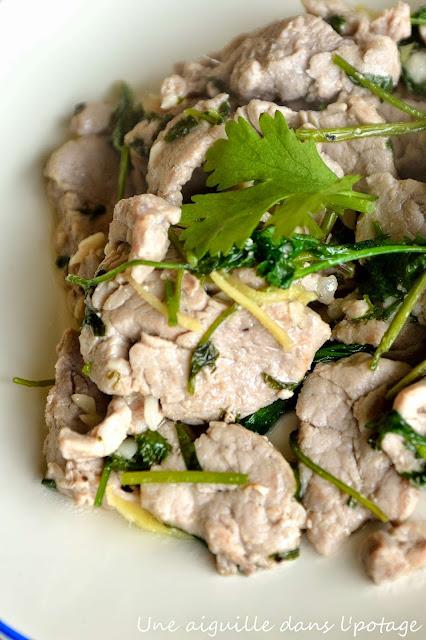 recette asiatique porc coriandre