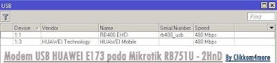 Hotspot Mikrotik RB751U Modem USB Huawei E173