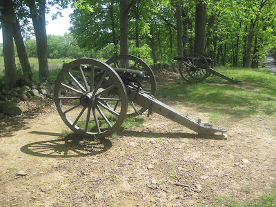 photograph of napoleon cannons on a sunny afternoon in Gettysburg Virginia