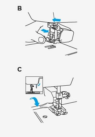 prensatelas doble arrastre maquina de coser domestica