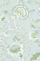 flower wallpaper blue white T4145