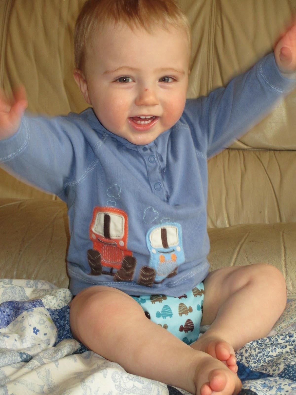 Oscar sporting his Frugi top!