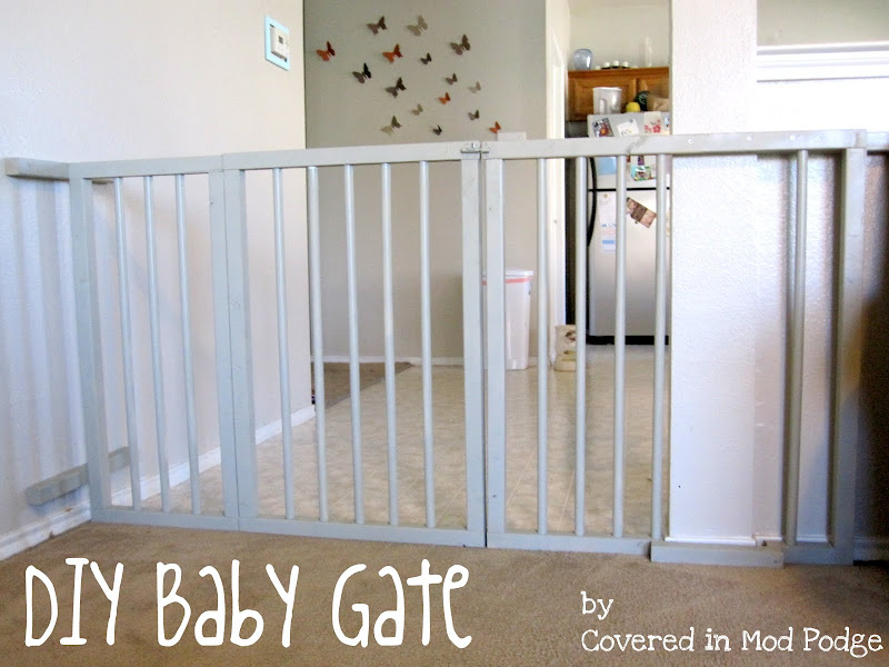 ... in Mod Podge: DIY Baby Gate or my husband calls it a baby cage