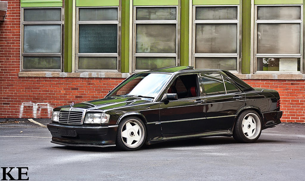 mercedes benz w201 190e on borbet wheels benztuning