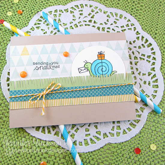 Snail Mail card by Jennifer Jackson | In Slow Motion stamp set by Newton's Nook Designs