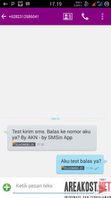 Cara Kirim SMS Gratis Unlimited Kesemua Operator