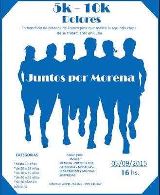 10k y 5k Juntos por Morena en Dolores (Soriano, 05/sep/2015)