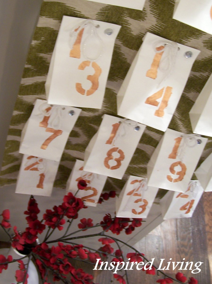Advent Calendar House Diy : Inspired living diy advent calendar