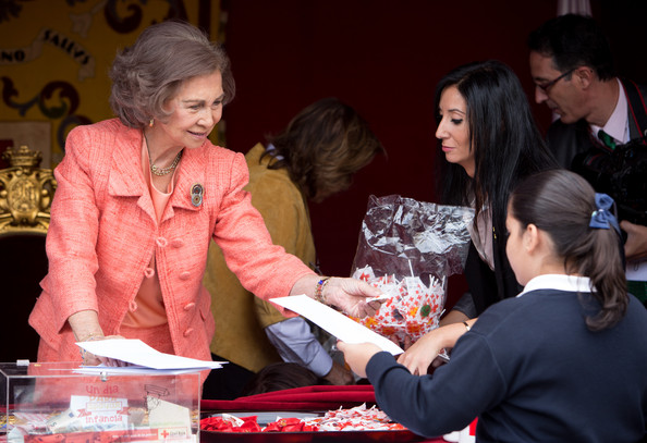 Queen Sofia of Spain attends the Red Cross Fundraising day event (Dia de la Banderita)in Madrid, Spain.