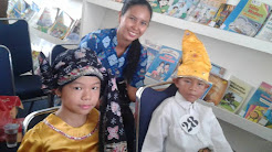 Ezer Twopama Manihuruk dan Catherine Devina Nathasa Wakili SD Xaverius II Jambi Pada Lomba Bercerit