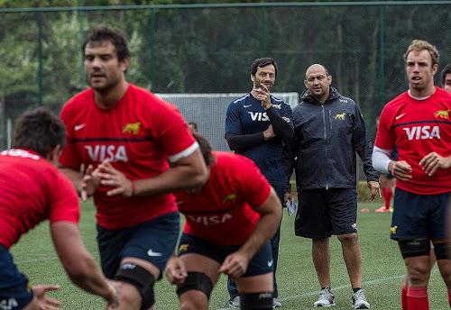 Los Pumas entrenaron bajo la atenta mirada de Raúl Pérez