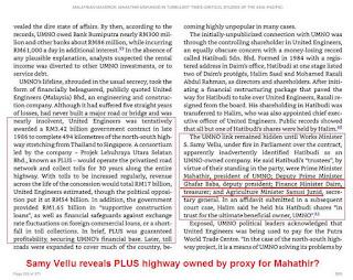 Samy Vellu: PLUS lebuh raya dimiliki oleh Mahathir dan geng?