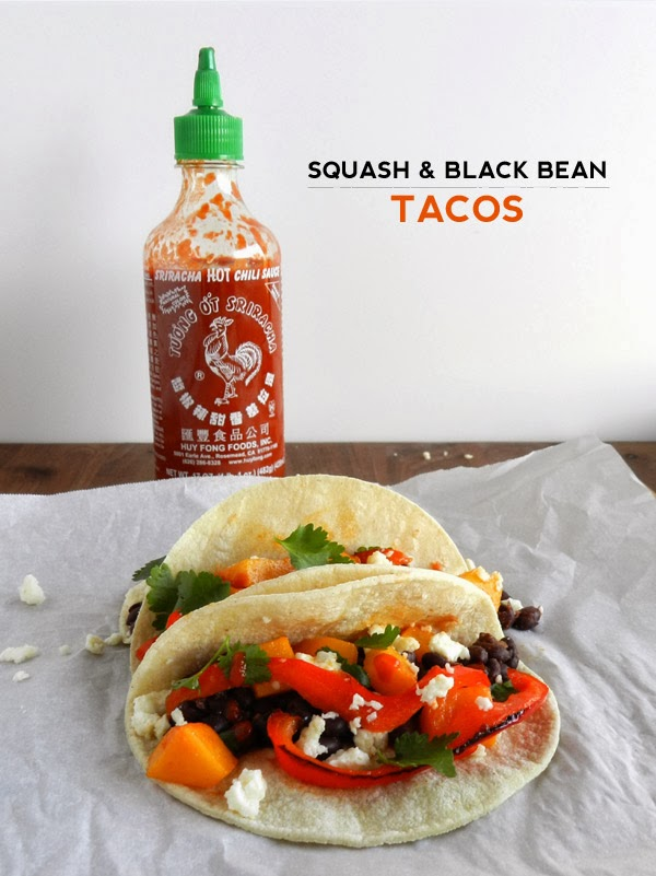 LET'S EAT: SQUASH AND BLACK BEAN TACOS | SAS+ROSE