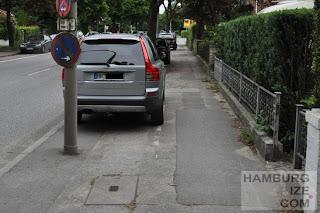Gehwegradeln und Parken erlaubt