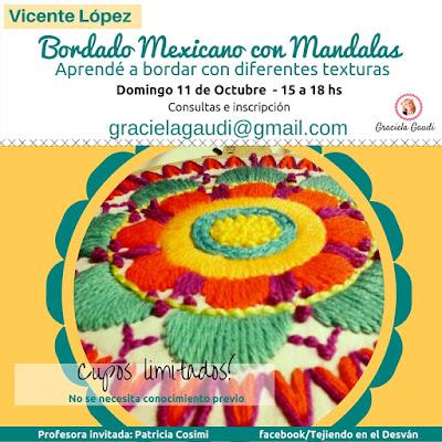 taller, clases de bordado mexicano, graciela gaudi, patricia cosimi