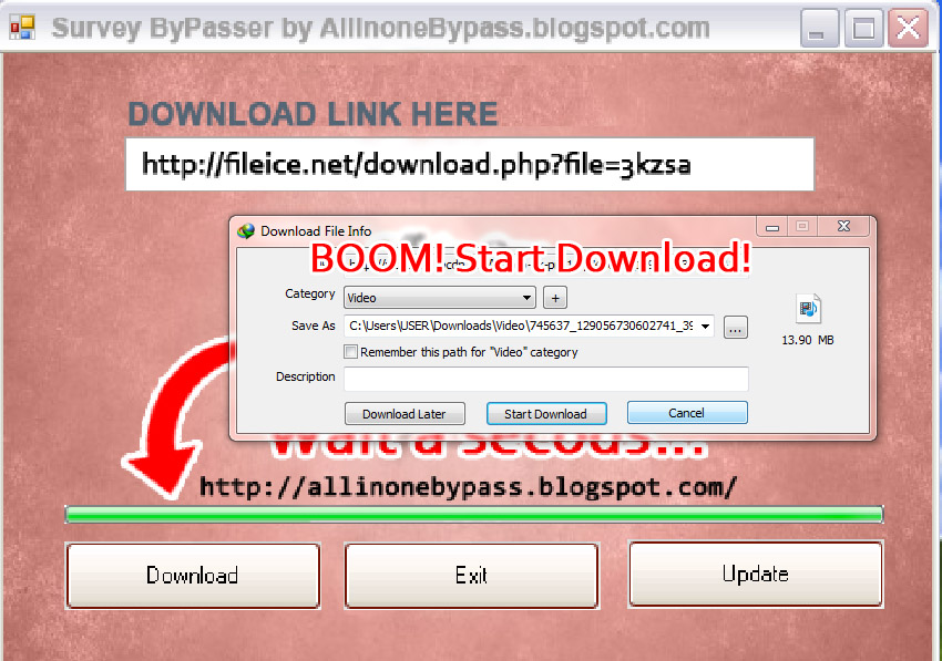 All in one survey bypasser activation code