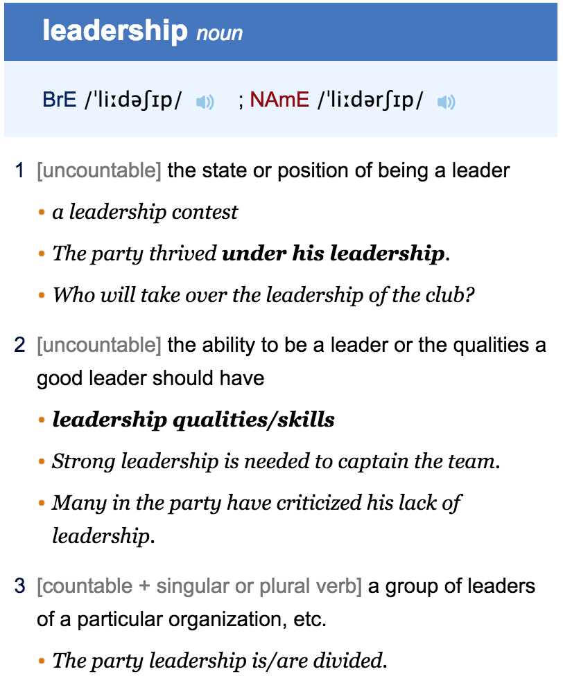 screen shot at pm png but what is leadership let s a definition to set the foundation first from a dictionary oxford advanced learners because as far i know