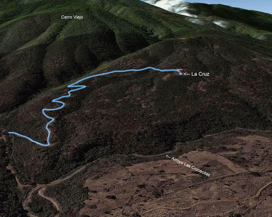 Ruta a la Cruz del Cerro Viejo, Ejido de San Miguel Cuyutlán