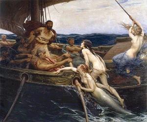 Ulises y las sirenas. de Herbert James Draper